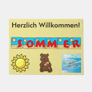 German Summer Welcome Mat