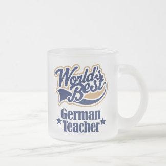 German Teacher Gift For (Worlds Best) Frosted Glass Mug