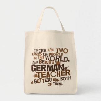 German Teacher Gift Grocery Tote Bag