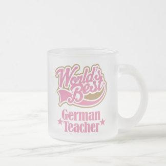 German Teacher Gift (Worlds Best) Frosted Glass Mug