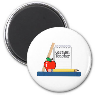 German Teacher (Notebook) 6 Cm Round Magnet