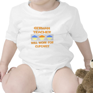 German Teacher ... Will Work For Cupcakes Rompers