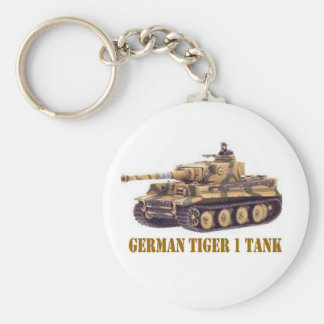 GERMAN TIGER 1 TANK BASIC ROUND BUTTON KEY RING