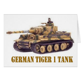 GERMAN TIGER 1 TANK CARD