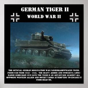 German Tiger II Heavy Tank - World War II Print