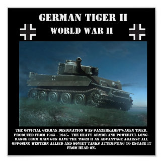 German Tiger II Heavy Tank - World War II Print