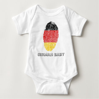 German touch fingerprint flag baby bodysuit