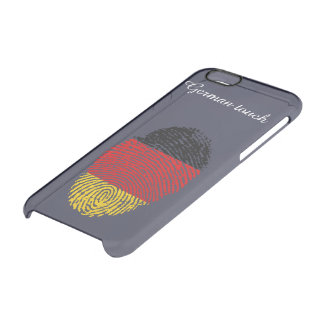 German touch fingerprint flag clear iPhone 6/6S case