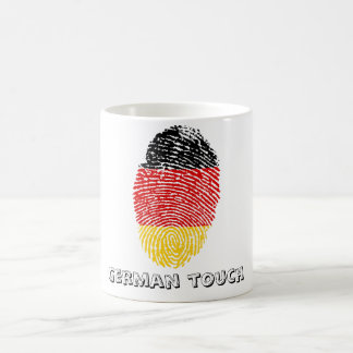 German touch fingerprint flag coffee mug