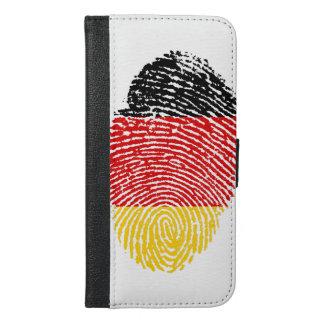 German touch fingerprint flag iPhone 6/6s plus wallet case