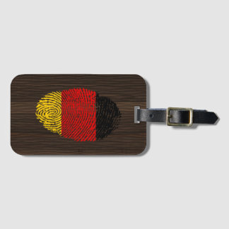 German touch fingerprint flag luggage tag
