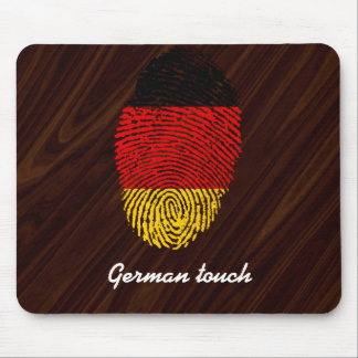 German touch fingerprint flag mouse mat