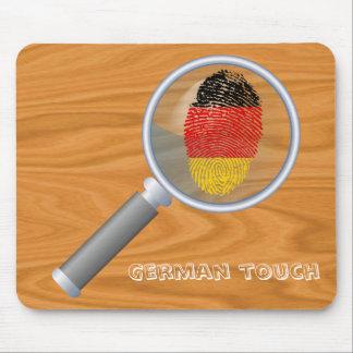 German touch fingerprint flag mouse mat