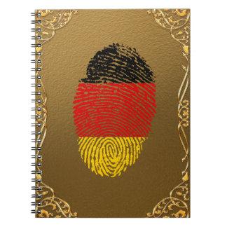 German touch fingerprint flag notebook
