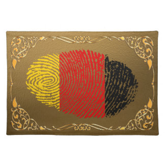 German touch fingerprint flag placemat