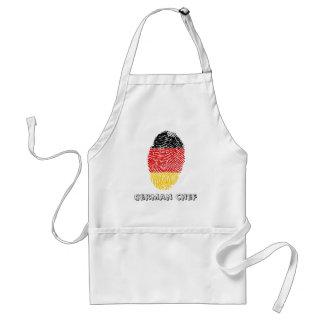 German touch fingerprint flag standard apron