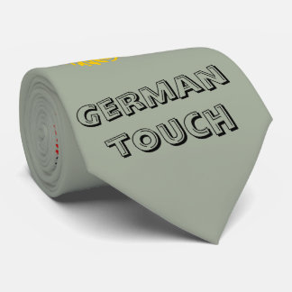 German touch fingerprint flag tie