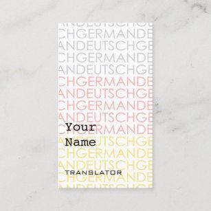 Interpreters business cards zazzle uk german translator or interpreter business cards colourmoves
