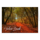 German Vielen Dank Thank You Woodland Path Blank Card