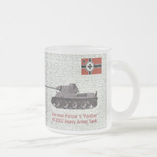 GERMAN -VK3002 'PANTHER' TANK FROSTED GLASS COFFEE MUG