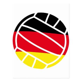 german volleyball icon postcard