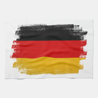 German wax pencil sketched flag kitchen towel
