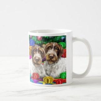 German WH Pointer Open Gifts Christmas Basic White Mug
