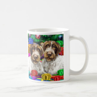 German WH Pointer Open Gifts Christmas Coffee Mug