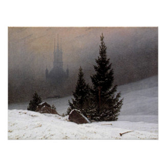 German Winter Landscape - Friedrich Poster