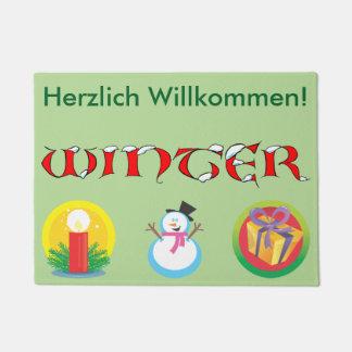 German Winter Welcome Mat