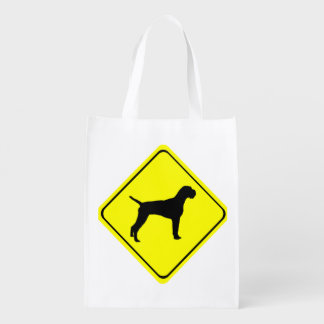 German Wired-Haired Pointer Dog Crossing Sign