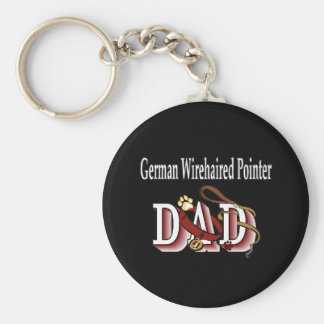 german wirehaired pointer dad Keychain