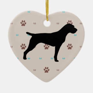 German Wirehaired Pointer Christmas Tree Ornament