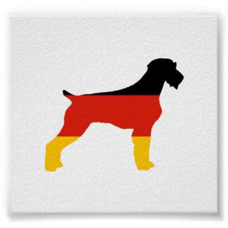 german wirehaired pointer flag silo germany-flag.p poster