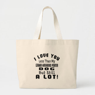 GERMAN WIREHAIRED POINTER FUNNY DESIGNS JUMBO TOTE BAG