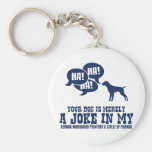 German Wirehaired Pointer Basic Round Button Key Ring
