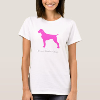 German Wirehaired Pointer T-shirt (pink)