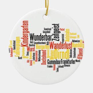 German Word Cloud - Deutsche Wortwolke Christmas Ornament