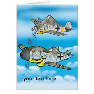 German ww2 fighters greeting card