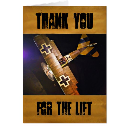 German WWI Fokker Triplane Thank You Cards