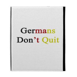 Germans Don t Quit iPad Folio Case