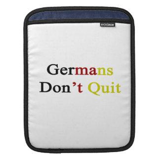 Germans Don t Quit iPad Sleeve