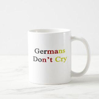 Germans Don't Cry Basic White Mug