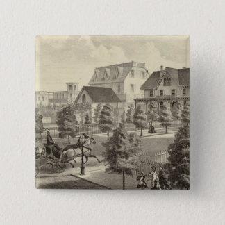 Germantown Cottage, Atlantic City, NJ 15 Cm Square Badge