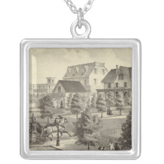 Germantown Cottage, Atlantic City, NJ Silver Plated Necklace