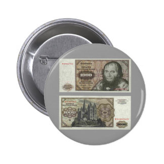 Germany 1000 Mark Note 6 Cm Round Badge