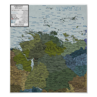 Germany - 100 m Sea Level Rise Poster
