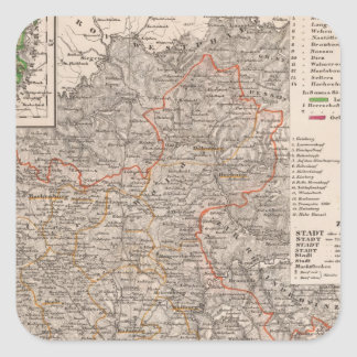 Germany 10 square sticker