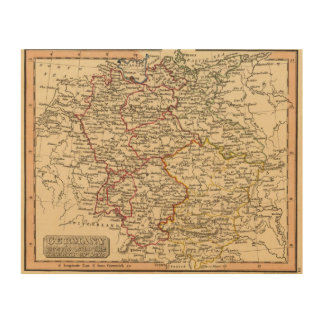 Germany 18 wood print
