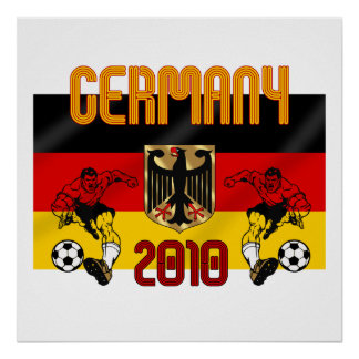 Germany 2010 soccer players gifts poster